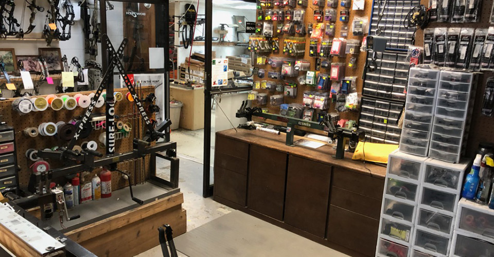 inside Archery shop